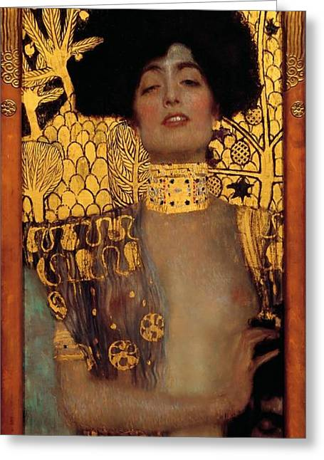 Judith And The Head Of Holofernes Greeting Card by Gustav Klimt