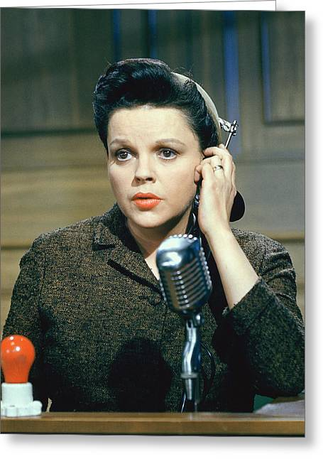 Judy Garland In Judgment At Nuremberg  Greeting Card by Silver Screen