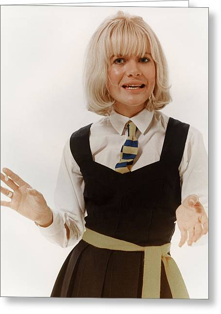 Judy Geeson In Three Into Two Won't Go  Greeting Card by Silver Screen