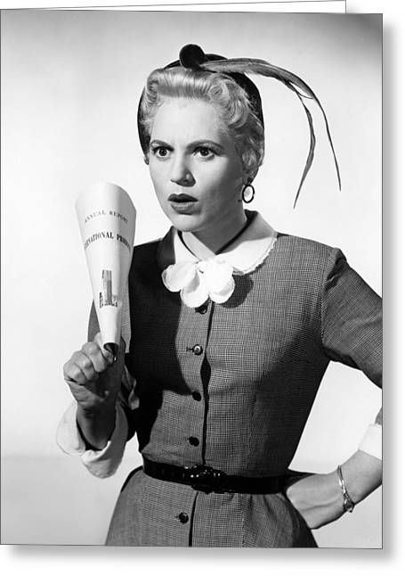 Judy Holliday In The Solid Gold Cadillac  Greeting Card