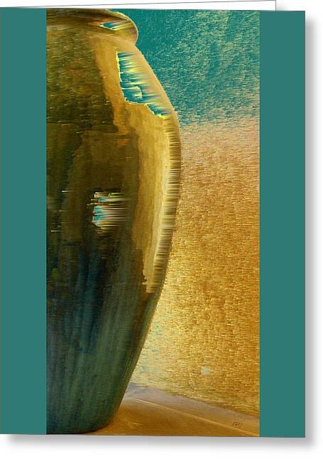 Jug Abstraction Greeting Card by Ben and Raisa Gertsberg