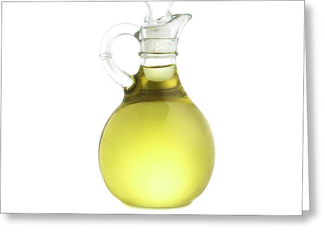 Jug Of Olive Oil Greeting Card by Science Photo Library