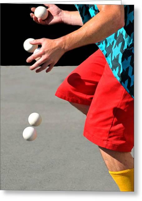 Juggler Greeting Card by Diana Angstadt