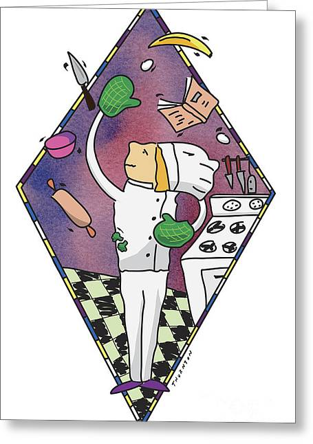 Juggling Chef Greeting Card