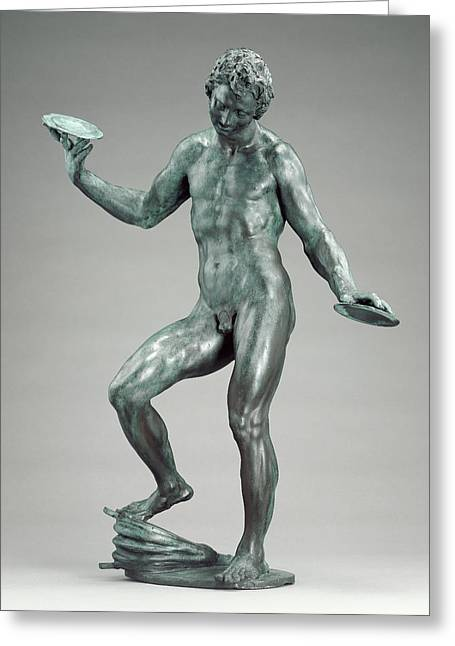Juggling Man Adriaen De Vries, Dutch, About 1545 - 1626 Greeting Card