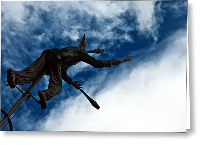 Juggling Statue Greeting Card by Jess Kraft