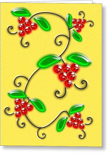 Juicy Berries Greeting Card