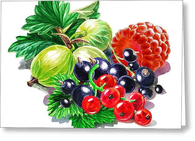 Juicy Berry Mix  Greeting Card by Irina Sztukowski