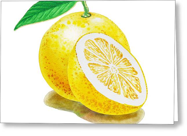 Greeting Card featuring the painting Juicy Grapefruit by Irina Sztukowski