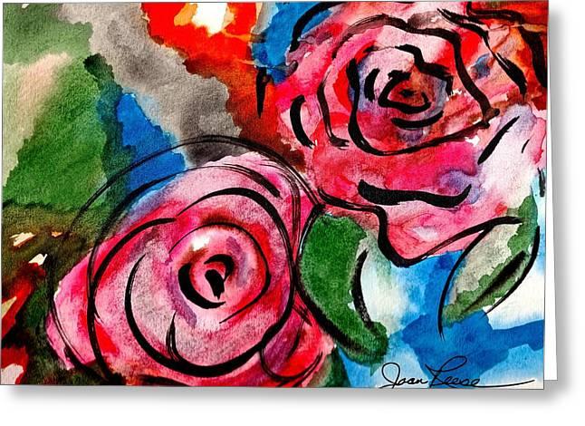 Juicy Red Roses Greeting Card