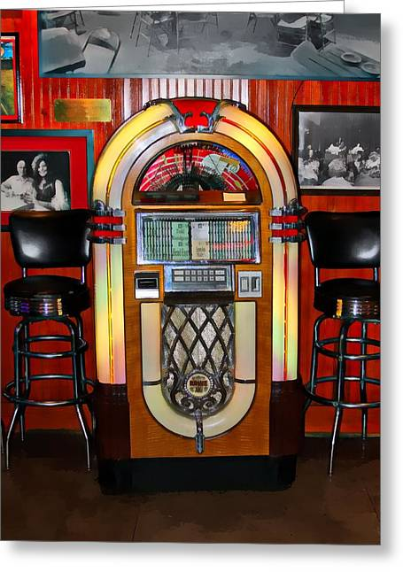 Juke Box Greeting Card by James Stough