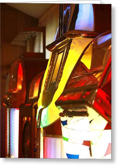Jukebox Greeting Card by Jose Rodriguez