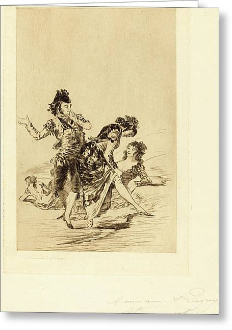Jules-ferdinand Jacquemart After Francisco De Goya French Greeting Card by Quint Lox