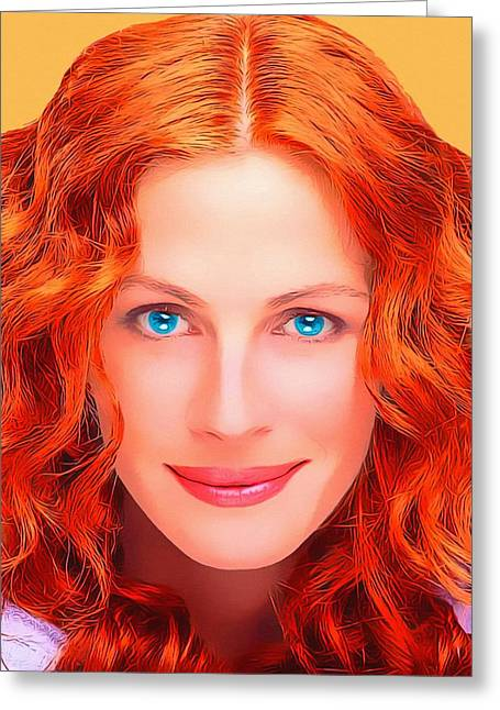 Julia Roberts Greeting Card by Art Cinema Gallery