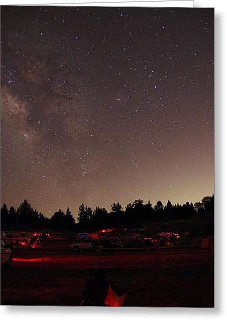 Julian Night Sky Milky Way Greeting Card