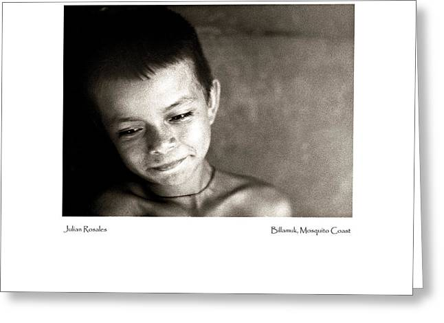 Greeting Card featuring the photograph Julian Rosales by Tina Manley