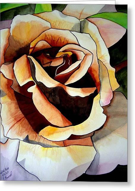 Julia's Rose Greeting Card by Sacha Grossel