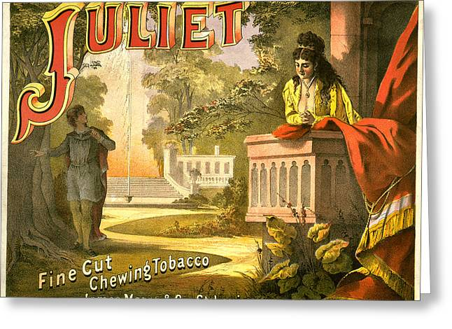 Juliet Tobacco Label Greeting Card