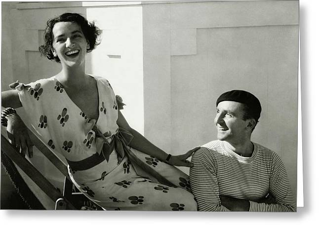 Juliette Crosby Hornblow And Arthur Hornblow Greeting Card by Edward Steichen