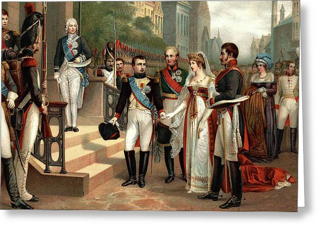 July 6 1807 Napoleon I Receiving Queen Greeting Card
