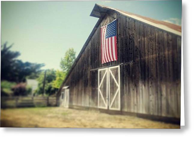 July Barn Greeting Card by Melissa Broughton