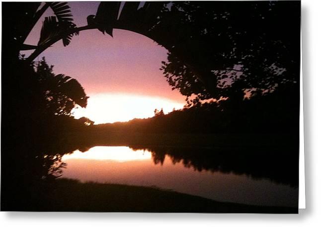 July Florida Sunset Greeting Card