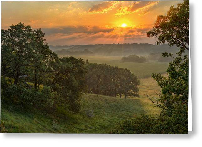 July Morning Along The Ridge Greeting Card