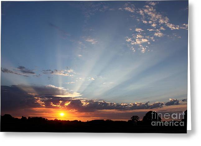 July Sky Show Greeting Card