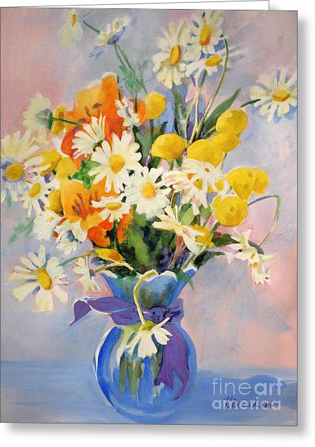 July Summer Arrangement  Greeting Card by Kathy Braud
