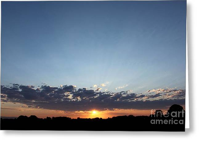 July Sunset Greeting Card by Erica Hanel