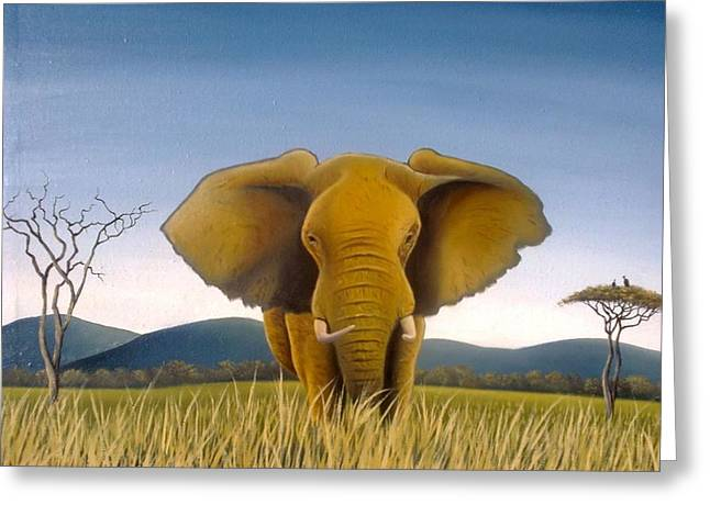 Jumbo Greeting Card by Hilton Mwakima