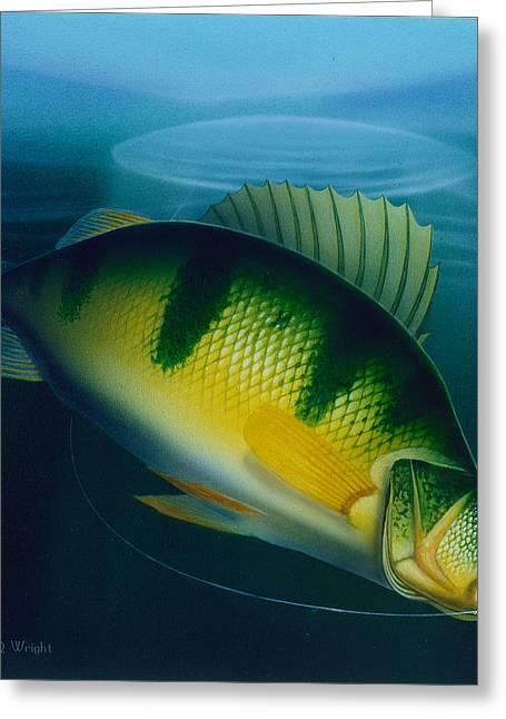 Jumbo Perch Ice Fishing Greeting Card
