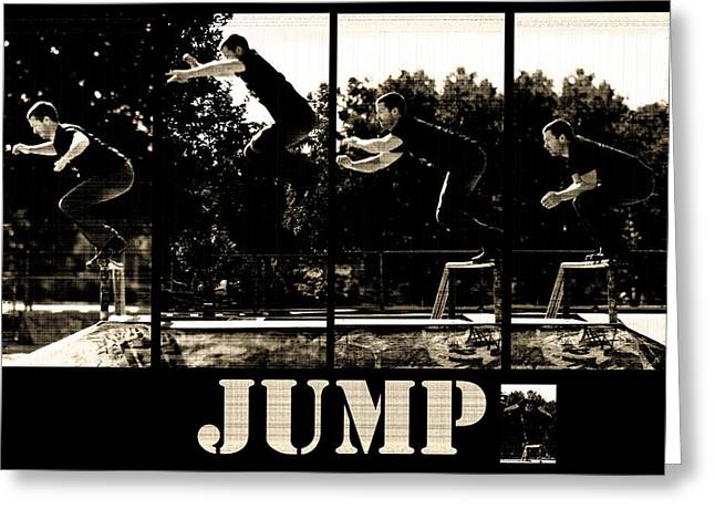 Jump Greeting Card by Lisa Knechtel
