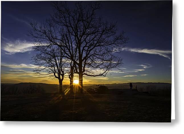 Jump Off Rock Sunset Greeting Card