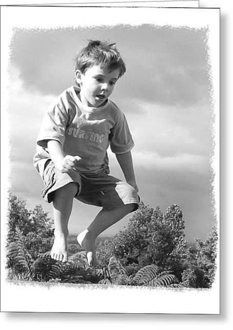 Jump Greeting Card by Wynn Davis-Shanks