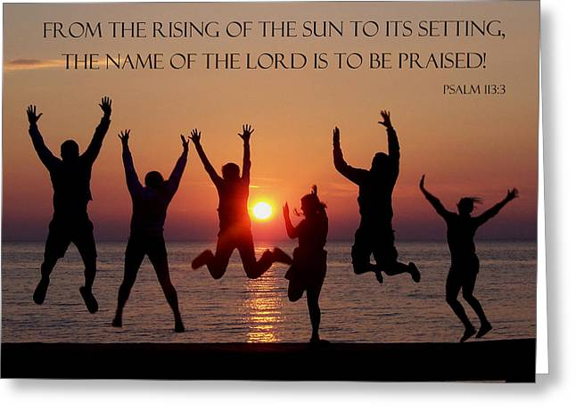 Jumping For Joy - Psalm 113 Greeting Card by David T Wilkinson