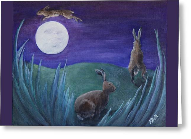 Jumping The Moon Greeting Card