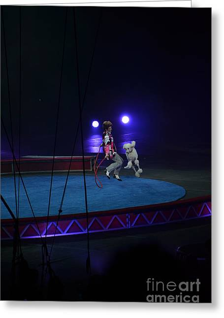 Jumprope With Fido Greeting Card by Robert Meanor