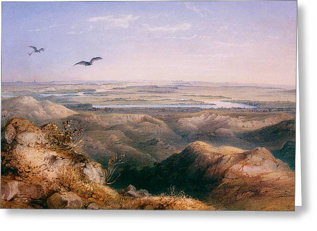 Junction Of The Yellowstone And The Issouri Greeting Card by Karl Bodmer