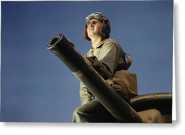 June 1942 - Crewman Of An M3 Tank, Fort Greeting Card