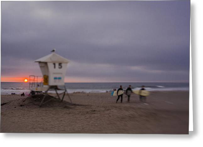 June Gloom At Mission Beach Greeting Card