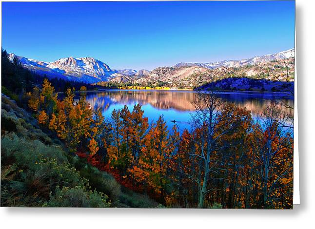 June Lake California Sunrise Greeting Card