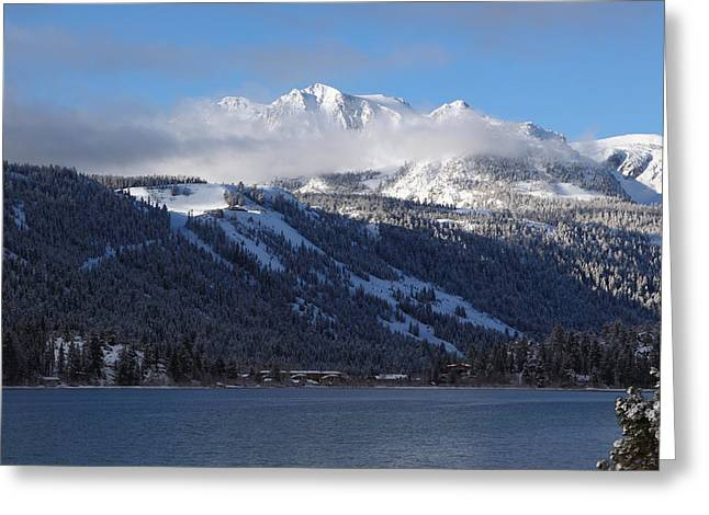 June Lake Winter Greeting Card by Duncan Selby