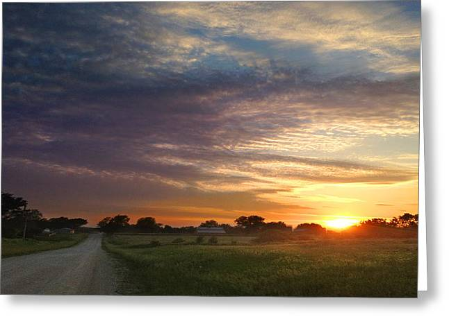 June Sky Osage County Greeting Card