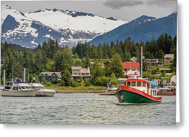 Juneau, Alaska, Usa Greeting Card by Tom Norring