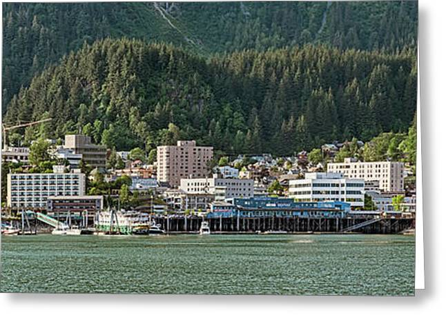 Juneau City At Waterfront, Southeast Greeting Card