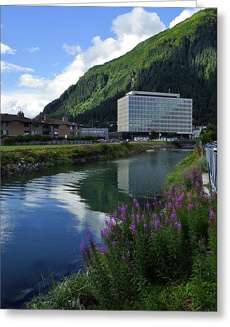 Juneau Federal Building Greeting Card by Cathy Mahnke