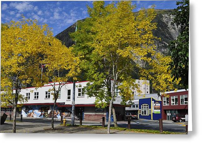 Juneau In The Fall Greeting Card by Cathy Mahnke