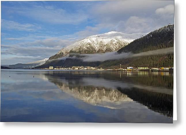 Juneau In Winter Greeting Card by Cathy Mahnke