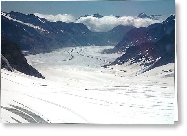 Jungfrau Glacier Greeting Card